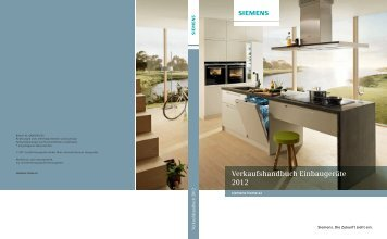 Verkaufshandbuch Einbaugeräte 2012 - Siemens