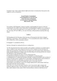 Regulations - Fakultät Raumplanung