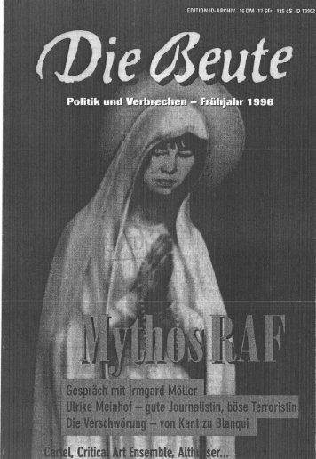 Interview Zeitschrift Die Beute - Social History portal