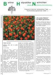 BHN Ausgabe 1-06 - Berliner HP Nachrichten