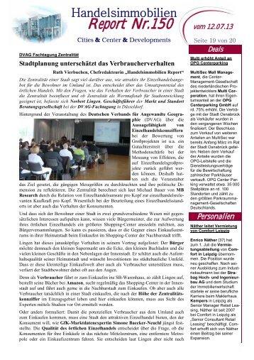 Report Nr.150 - Markt und Standort Beratungsgesellschaft mbH
