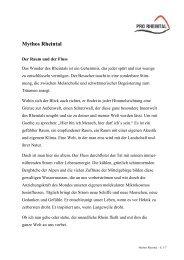 Mythos Rheintal - Pro Rheintal