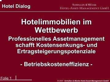 Hotel Asset Management - Mücke Hotelberatung