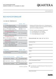 Buchungsformular & Preise (PDF) - SWOP. Exchange