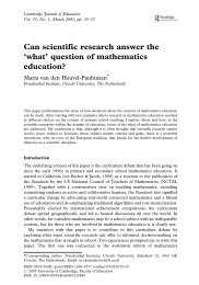 'what' question of mathematics education?