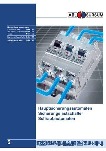 Hauptsicherungsautomaten Sicherungslastschalter ... - ABL-Polska