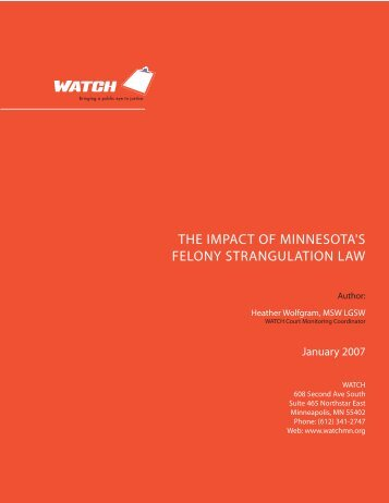 The impacT of minnesoTa's felony sTrangulaTion law - MINCAVA ...