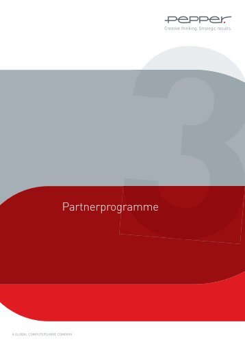 Partnerprogramme - Pepper