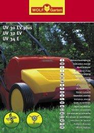 UV 30 EV plus UV 32 EV UV 34 E - WOLF-Garten NL