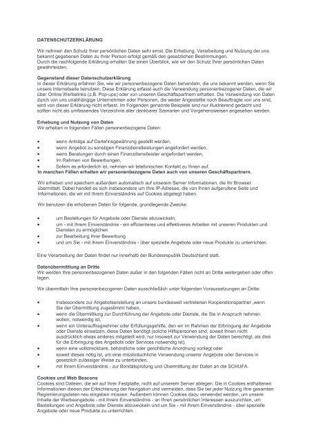 Datenschutzerklärung - Knobel Haus