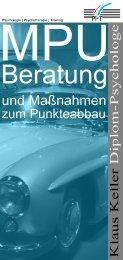 Flyer MPU-Beratung und Maßnahmen zum ... - Klaus Keller