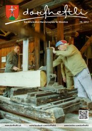 Das informative Monatsmagazin für Menziken 10 / 2012 - dorfheftli