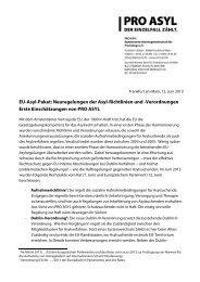 EU-Asyl-Paket: Neuregelungen der Asyl-Richtlinien und ... - Pro Asyl