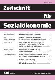 128.Folge - Zeitschrift für Sozialökonomie