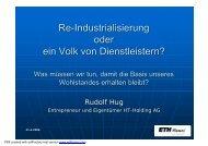 Re-Industrialisierung oder ein Volk von Dienstleistern? - Rudolf Hug