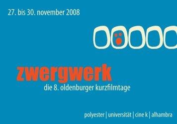 komplette Programm des Festivals - zwergWERK