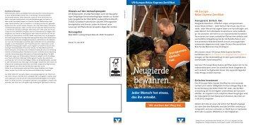 Produktflyer - Vereinigte Volksbank eG