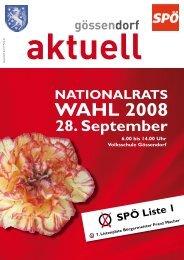 wahL 2008 - in der Marktgemeinde Gössendorf