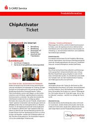 ChipActivator Ticket - S-CARD Service