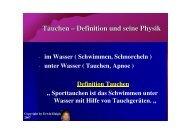 Tauchen – Definition und seine Physik - VIP-Divepoint