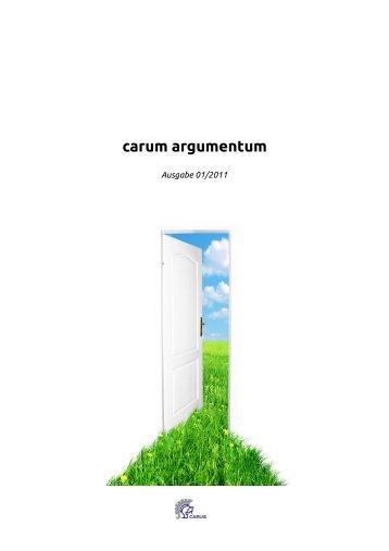 carum argumentum - Schule des Geldes