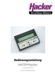 Bedienungsanleitung - Hacker Motor GmbH