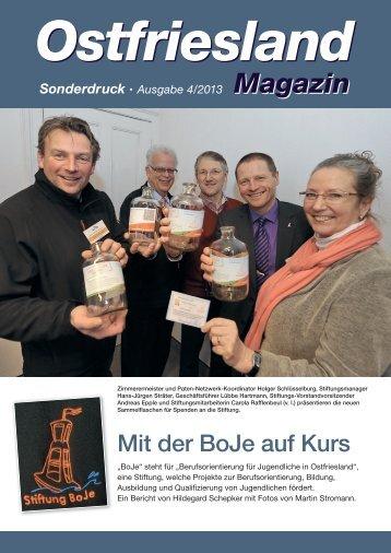 Ostfriesland Magazin 2013 - Stiftung Boje
