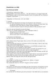 1 Bibelleitfaden Juni 2009 Zum Vertrauen befreit Vorbereitung ...