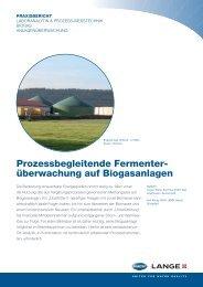 überwachung auf Biogasanlagen - HACH LANGE