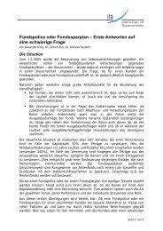 Fondspolice oder Fondssparplan – Erste ... - Institut für Finanz
