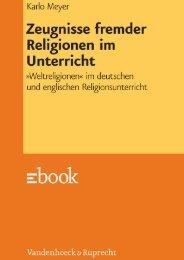 Zeugnisse fremder Religionen im Unterricht - Vandenhoeck ...