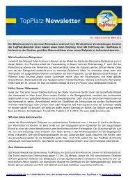 Newsletter vom 26.3.2012 - Top-Platz