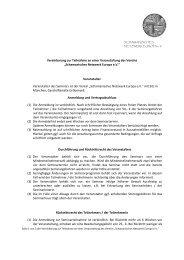 Vereinbarung zur Teilnahme an einer Veranstaltung des Vereins ...