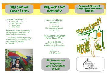 Flyer Frühjahr 2012 - Schwandorf Evangelisch