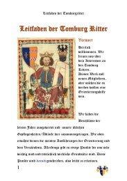 Tomburg Ritter-Leitfaden