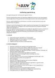 Fachbeitrag Jugendordnung - Deutscher Ju-Jutsu Verband