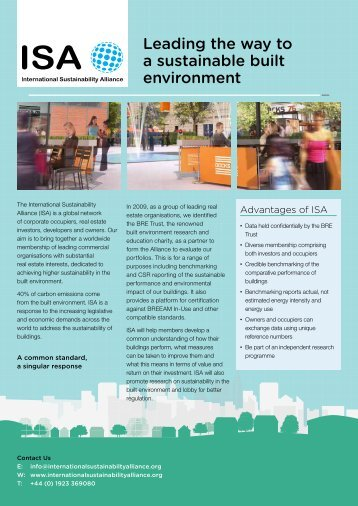 Leading the way to a sustainable built environment - International ...