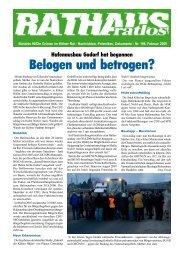 Belogen und betrogen? - Bündnis 90/Die Grünen Kreisverband Köln
