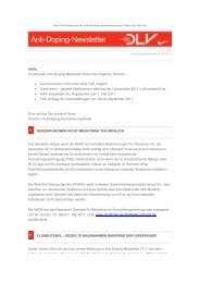 Anti - Doping - Newsletter Juni 2011 - SHLV