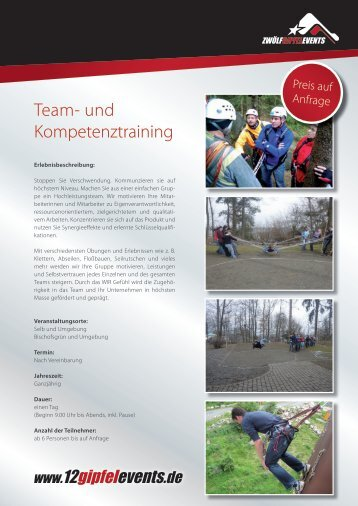 Team- und Kompetenztraining