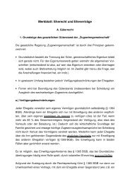 Merkblatt: Eherecht und Eheverträge - Notare Dr. Wahl und Dr. Adrian
