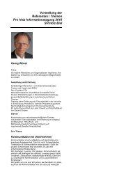 Vorstellung Referenten und Themen als PDF - Pro Holz Schweiz
