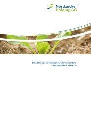Geschäftsbericht 2009 / 10 - Nordzucker AG