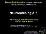 Neuroradiologie Ws 07-08 Internet Version - Ruhr-Universität Bochum