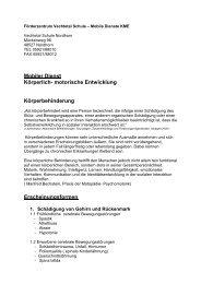 Mobiler Dienst Körperlich- motorische Entwicklung ... - Vechtetalschule