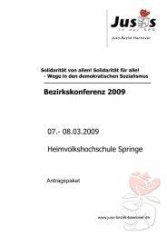 Antragspaket - Jusos Bezirk Hannover