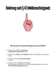 Infektionsschutzgesetz §43 - Landkreis Schweinfurt