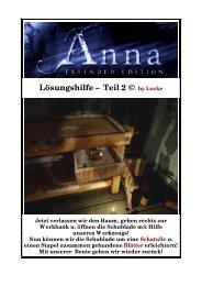Anna - deutsche Lösung zur Extended Version - Gamepad.de