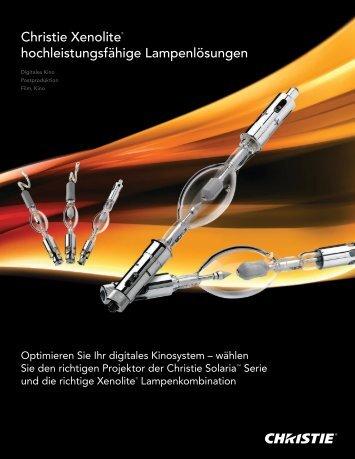 Christie Xenolite® hochleistungsfähige Lampenlösungen