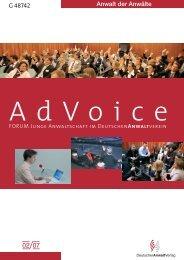 AdVoice 02/2007 - Forum Junge Anwaltschaft